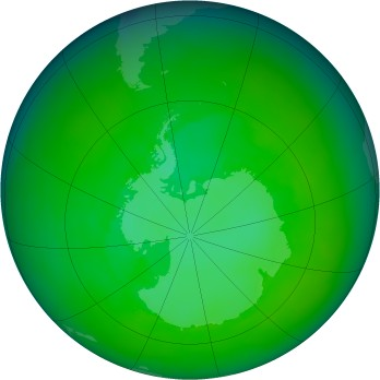Antarctic ozone map for 2002-12